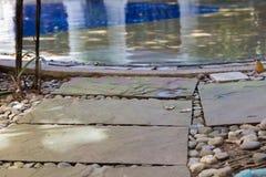 διάβαση πεζών στην πισίνα Στοκ εικόνες με δικαίωμα ελεύθερης χρήσης
