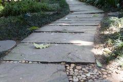 διάβαση πεζών στο πάρκο κήπων Στοκ Εικόνα