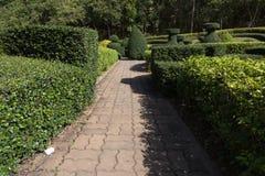 διάβαση πεζών στο πάρκο κήπων Στοκ εικόνα με δικαίωμα ελεύθερης χρήσης