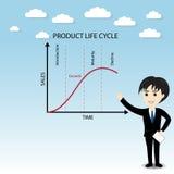 Διάγραμμα κύκλων ζωής προϊόντων Στοκ Εικόνες