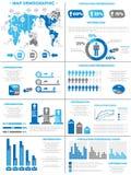 Διάγραμμα στοιχείων Infographic και γραφικός Στοκ Εικόνες