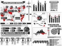Διάγραμμα στοιχείων Infographic και γραφικός Στοκ φωτογραφίες με δικαίωμα ελεύθερης χρήσης