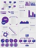 Διάγραμμα στοιχείων Infographic και γραφικός Στοκ Φωτογραφία