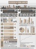 Διάγραμμα στοιχείων Infographic και γραφικός Στοκ Εικόνα