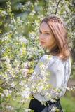 διάνυσμα άνοιξη απεικόνισης κοριτσιών 10 eps Στοκ Φωτογραφία