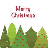διάνυσμα δέντρων απεικόνισης χαιρετισμού Χριστουγέννων eps10 καρτών ελεύθερη απεικόνιση δικαιώματος