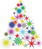 διάνυσμα δέντρων αστεριών απεικόνισης Χριστουγέννων Στοκ Εικόνα