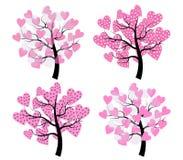 διάνυσμα δέντρων συμβόλων αγάπης απεικόνισης καρδιών Στοκ φωτογραφία με δικαίωμα ελεύθερης χρήσης