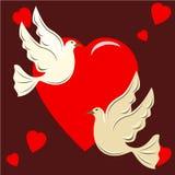 διάνυσμα αγάπης απεικόνισης πουλιών Στοκ Φωτογραφίες