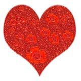 διάνυσμα αγάπης καρδιών γωνιών ελεύθερη απεικόνιση δικαιώματος