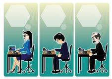 διάνυσμα ανθρώπων επιχειρησιακής απεικόνισης jpg Στοκ Εικόνα