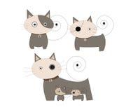 διάνυσμα απεικόνισης γατών κινούμενων σχεδίων κίτρινο Στοκ φωτογραφία με δικαίωμα ελεύθερης χρήσης
