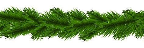 διάνυσμα απεικόνισης γιρλαντών Χριστουγέννων καρτών ανασκόπησης Στοκ εικόνες με δικαίωμα ελεύθερης χρήσης