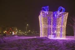 διάνυσμα απεικόνισης γιρλαντών Χριστουγέννων καρτών ανασκόπησης στοκ φωτογραφία