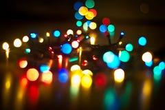 διάνυσμα απεικόνισης γιρλαντών Χριστουγέννων καρτών ανασκόπησης Στοκ εικόνα με δικαίωμα ελεύθερης χρήσης