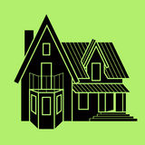 διάνυσμα απεικόνισης εικονιδίων σπιτιών Στοκ Εικόνα