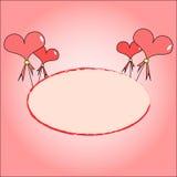 διάνυσμα απεικόνισης καρδιών χαιρετισμού καρτών Στοκ Εικόνες