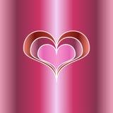 διάνυσμα απεικόνισης καρδιών χαιρετισμού καρτών Στοκ φωτογραφίες με δικαίωμα ελεύθερης χρήσης