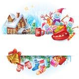 διάνυσμα απεικόνισης Χριστουγέννων eps10 εμβλημάτων Στοκ φωτογραφία με δικαίωμα ελεύθερης χρήσης