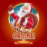 διάνυσμα απεικόνισης Χριστουγέννων eps10 εμβλημάτων Στοκ Φωτογραφία
