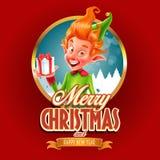 διάνυσμα απεικόνισης Χριστουγέννων eps10 εμβλημάτων Στοκ Φωτογραφίες