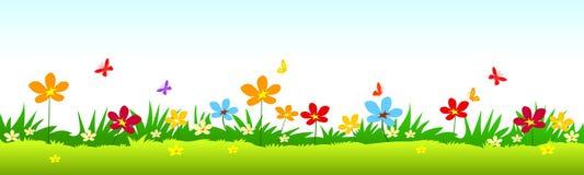 διάνυσμα απεικόνισης χλόης λουλουδιών Στοκ φωτογραφία με δικαίωμα ελεύθερης χρήσης