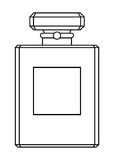 διάνυσμα αρώματος πλέγματος απεικόνισης σχεδίων μπουκαλιών Στοκ Εικόνα