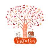 διάνυσμα βαλεντίνων δέντρων μορφής καρδιών ανασκόπησης Στοκ φωτογραφία με δικαίωμα ελεύθερης χρήσης