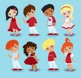 διάνυσμα βαλεντίνων αγάπης απεικόνισης ημέρας ζευγών αγάπη κοριτσιών αγοριών Στοκ Φωτογραφία