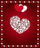 διάνυσμα βαλεντίνων αγάπης απεικόνισης ημέρας ζευγών Κάρτα για τα συγχαρητήρια Στοκ Φωτογραφία