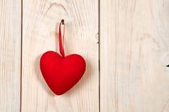 διάνυσμα βαλεντίνων αγάπης απεικόνισης ημέρας ζευγών Κόκκινη καρδιά υφάσματος Στοκ φωτογραφίες με δικαίωμα ελεύθερης χρήσης