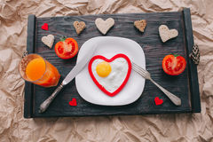 διάνυσμα βαλεντίνων αγάπης απεικόνισης ημέρας ζευγών πρόγευμα ρομαντικό Στοκ Εικόνες