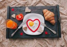 διάνυσμα βαλεντίνων αγάπης απεικόνισης ημέρας ζευγών πρόγευμα ρομαντικό Στοκ Φωτογραφία