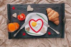 διάνυσμα βαλεντίνων αγάπης απεικόνισης ημέρας ζευγών πρόγευμα ρομαντικό Στοκ εικόνες με δικαίωμα ελεύθερης χρήσης