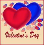 διάνυσμα βαλεντίνων αγάπης απεικόνισης ημέρας ζευγών Στοκ Εικόνες