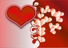διάνυσμα βαλεντίνων απεικόνισης καρδιών ανασκόπησης Στοκ εικόνα με δικαίωμα ελεύθερης χρήσης