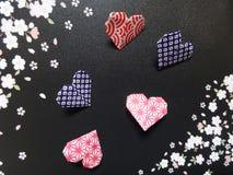 διάνυσμα βαλεντίνων origami απεικόνισης καρδιών καρτών eps10 Στοκ εικόνες με δικαίωμα ελεύθερης χρήσης