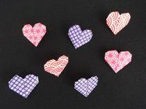 διάνυσμα βαλεντίνων origami απεικόνισης καρδιών καρτών eps10 Στοκ εικόνα με δικαίωμα ελεύθερης χρήσης