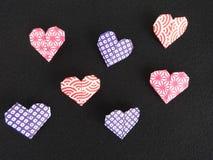διάνυσμα βαλεντίνων origami απεικόνισης καρδιών καρτών eps10 Στοκ Εικόνα