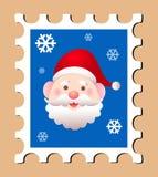 διάνυσμα γραμματοσήμων santa ταχυδρομικών τελών Claus Στοκ Φωτογραφία