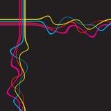 διάνυσμα γραμμών squiggle Στοκ Φωτογραφίες