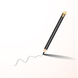 Διάνυσμα γραψίματος μολυβιών Στοκ Εικόνα