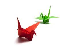 διάνυσμα εγγράφου origami απεικόνισης γερανών Στοκ Εικόνα