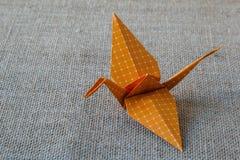 διάνυσμα εγγράφου origami απεικόνισης γερανών Στοκ φωτογραφία με δικαίωμα ελεύθερης χρήσης
