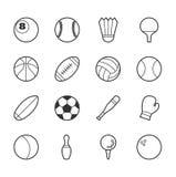 διάνυσμα εικονιδίων παιχνιδιών δημοφιλέστερο καθορισμένο αθλητικό Στοκ Εικόνα