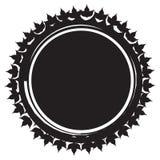 διάνυσμα εικόνας απεικόνισης στοιχείων σχεδίου Διακοσμητικός βρώμικος κύκλος όπως τον ήλιο Στοκ Φωτογραφίες