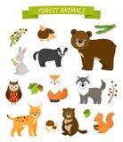 διάνυσμα εικόνας συλλογής ζώων Στοκ εικόνα με δικαίωμα ελεύθερης χρήσης