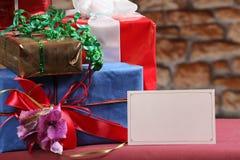 διάνυσμα καρτών απεικόνισης Χριστουγέννων eps10 Στοκ Φωτογραφίες