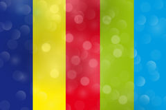 διάνυσμα μουσικής ατόμων χρώματος ανασκόπησης Στοκ Φωτογραφία