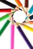 διάνυσμα μολυβιών έγχρωμης εικονογράφησης κύκλων Στοκ εικόνες με δικαίωμα ελεύθερης χρήσης